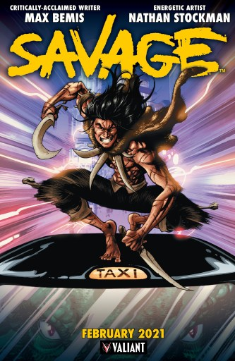 SAVAGE #1 promo artwork by Nathan Stockman, colors by Brian Reber