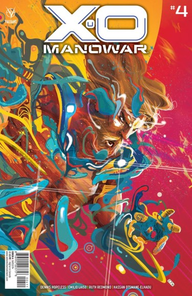X-O Manowar #4 cover by Christian Ward