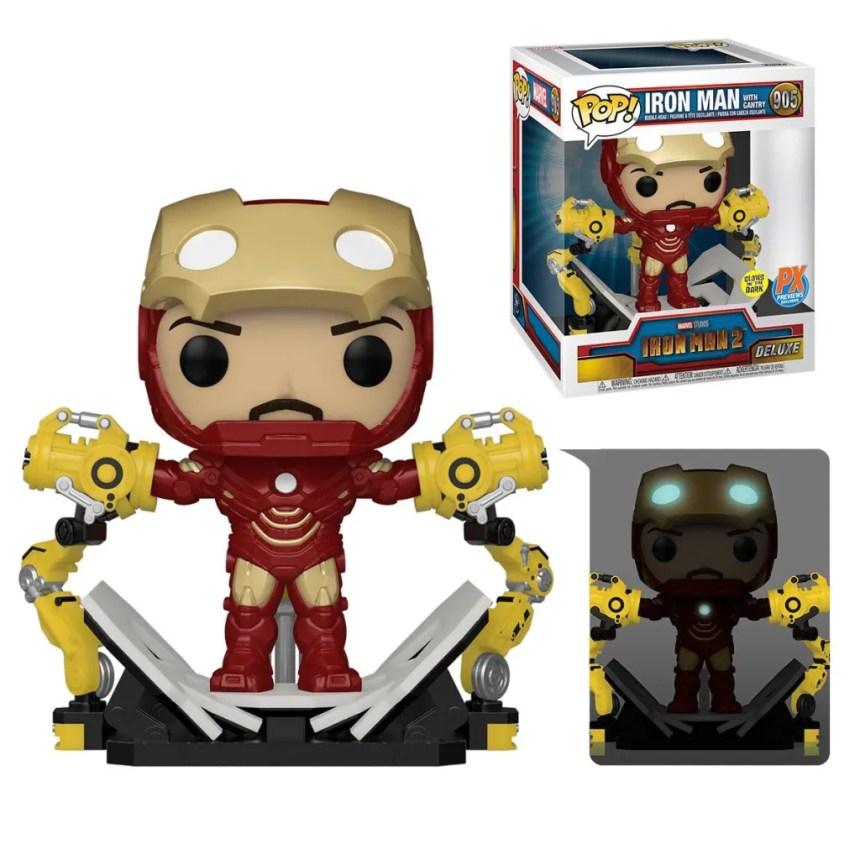 Iron Man 2 Iron Man MK IV with Gantry Glow-in-the-Dark 6-Inch Deluxe Pop! Vinyl Figure - Previews Exclusive