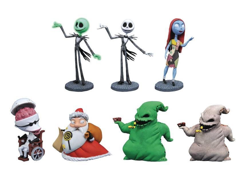 Nightmare Before Christmas D-Formz 3-inch PVC Figurines