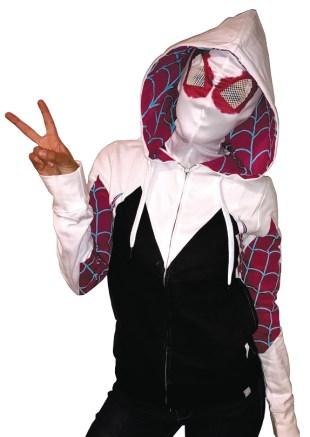 SPIDER-GWEN PX WOMENS HOODIE W-MASK 1