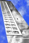 Buildings with just a facade are creepy! Van Ness Avenue building in SF. Photoshopped, of course.