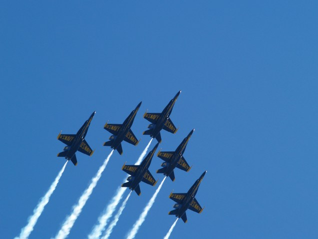 Blue Angels in Sync