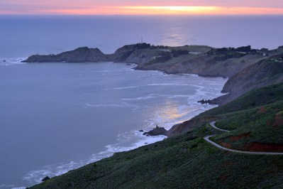 Curving Golden Gate leading to Pt. Bonita