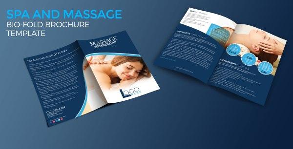 Spa and Massage Bio-fold Brochure Template