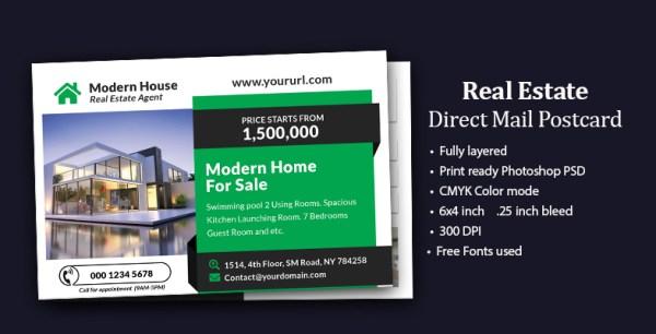 Home for sale Real Estate EDDM Postcard design