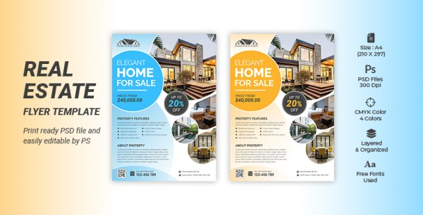 CREATIVE & MODERN REAL ESTATE BUSINESS FLYER TEMPLATE