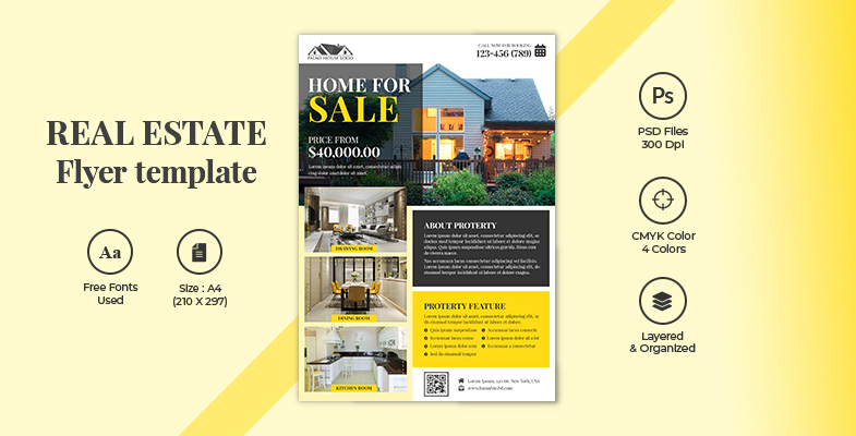 CREATIVE MODERN REAL ESTATE BUSINESS AGENT FLYER TEMPLATE DOWNLOAD