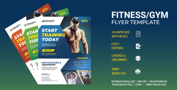 Fitness Sports Flyer Template