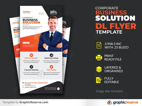 Modern corporate Dl flyer design template psd