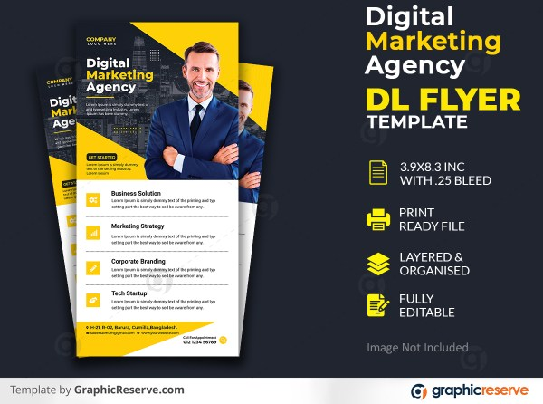 Corporate business dl flyer template