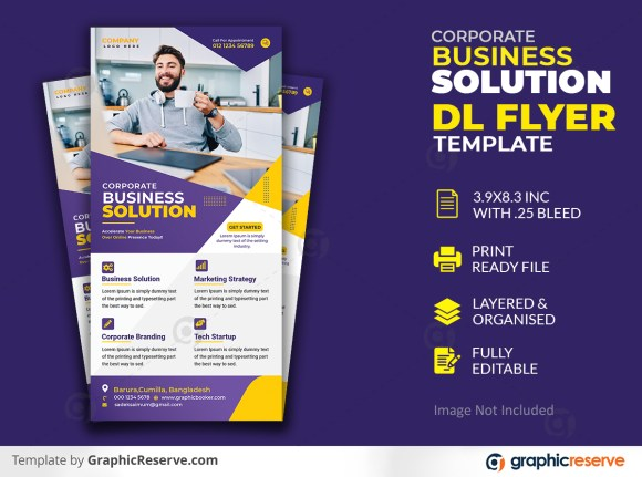 Business Dl flyer or rack card template Premium PSD