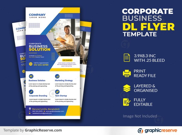 Corporate Business Solution Dl Flyer Template