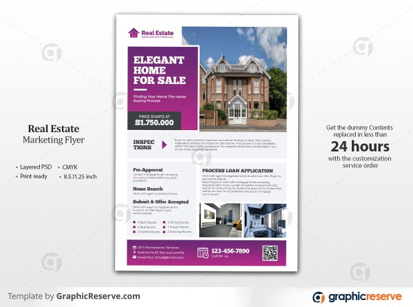 Clean & Modern Real Estate Flyer Template