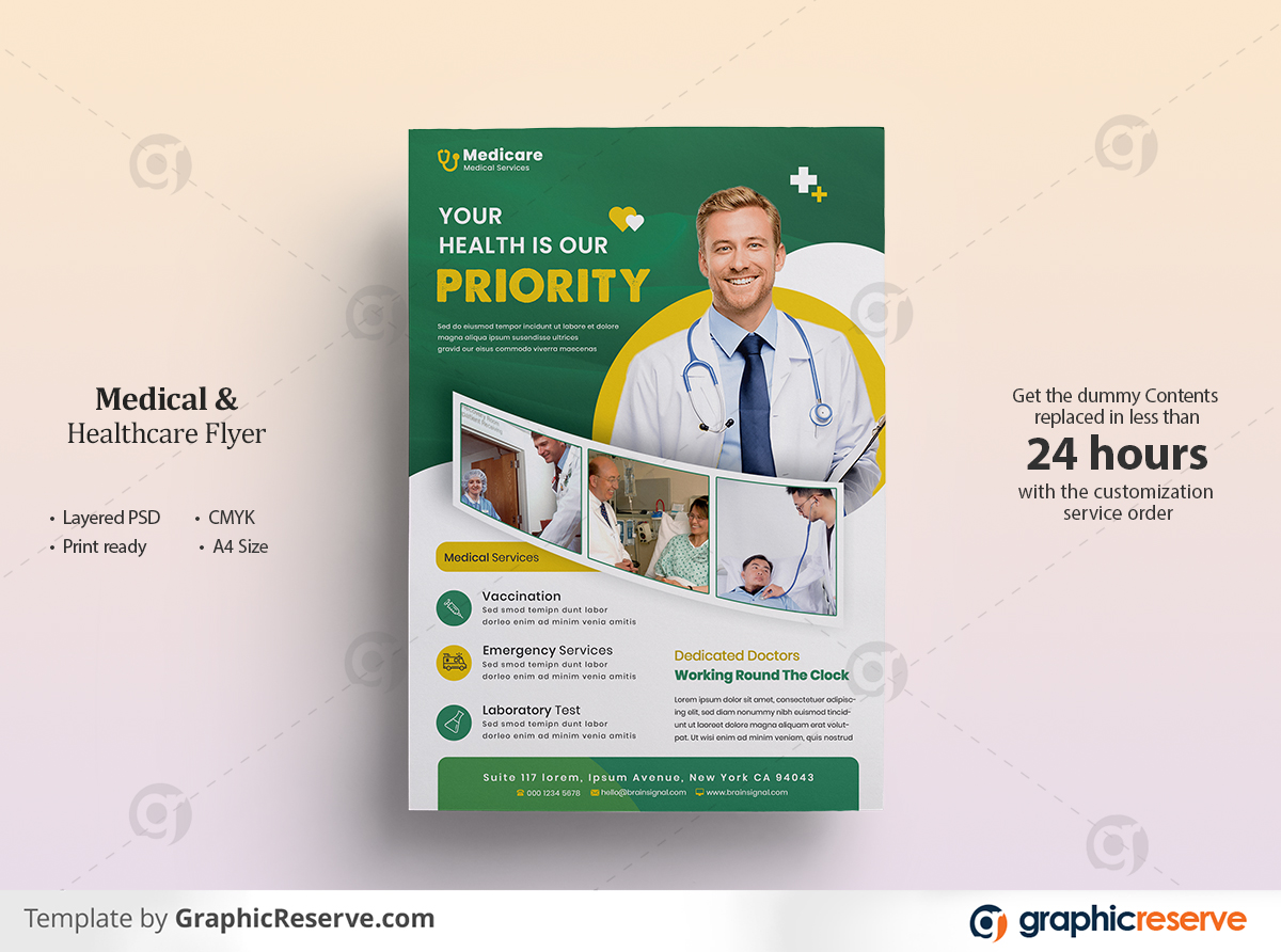 Medical flyer Template by Nasir