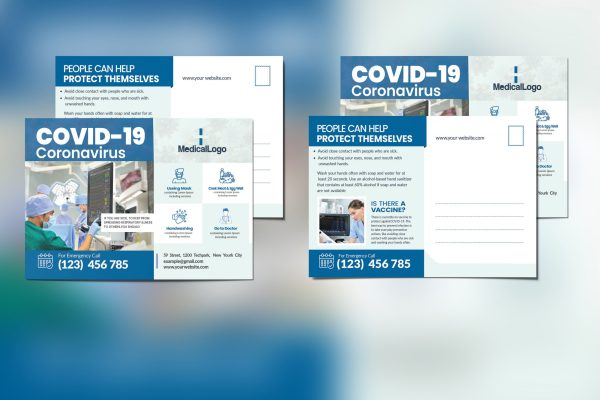 Medical Postcard Template for COVID -19