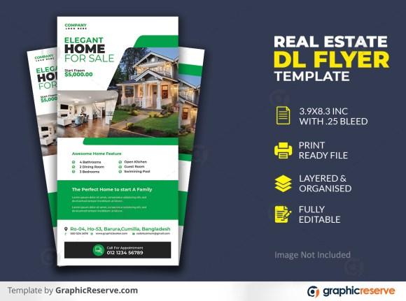 Modern Real Estate Dl Flyer Template
