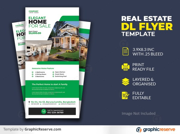 Modern Real Estate Dl Flyer Template