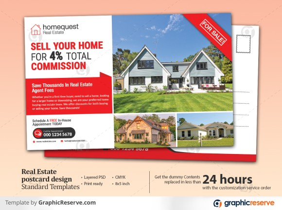 Real Estate Standard & EDDM Postcard Templates