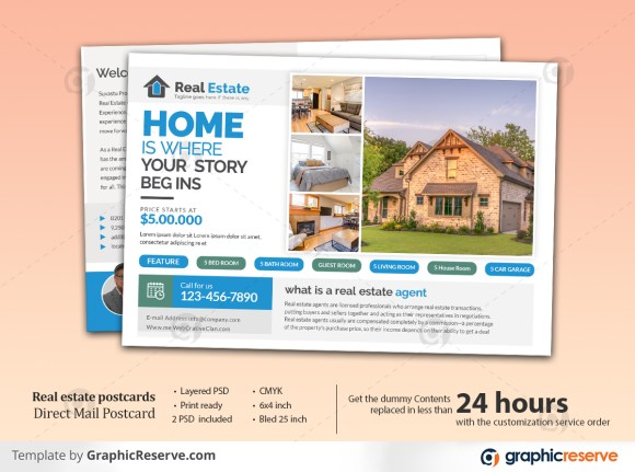 Real Estate Standard Postcard Template