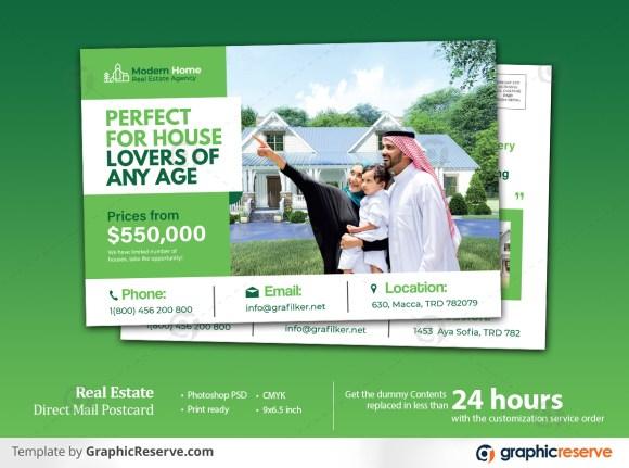 Real estate home for sale EDDM Postcard template