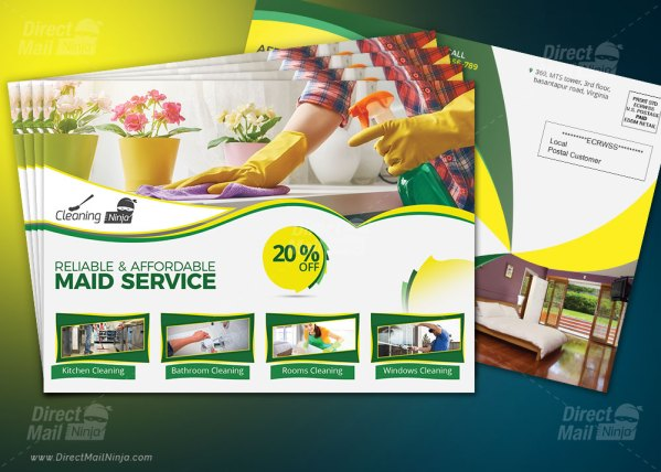 Cleaning Services EDDM Postcard By MTS
