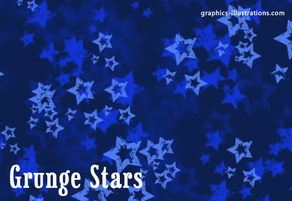 Grunge Stars Photoshop brushes set