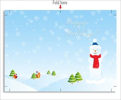 Snowy Christmas card, free download, high resolution image