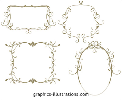 Swirled frames - Photoshop brushes set