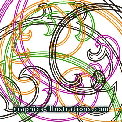 Outlined Swirls Photoshop Brushes Set