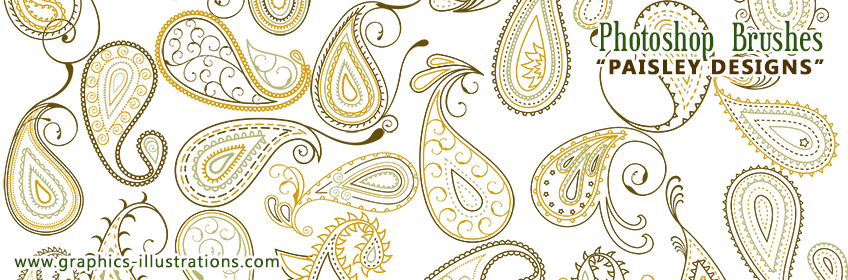 New Photoshop Brushes - Paisley Designs