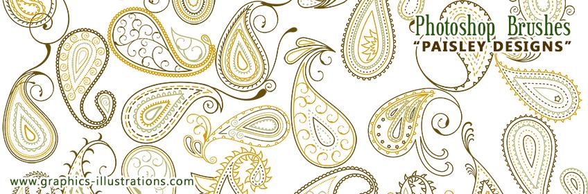 New Photoshop Brushes - Paisley Designs