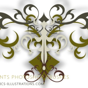 Yet Another HiRes, Commercial Free, Photoshop Brushes Set (6) – Ornaments