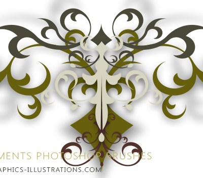 HiRes, Commercial Free, Photoshop Brushes Set (6) - Ornaments