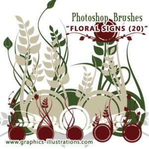 Brand New Photoshop Brushes – Floral Signs