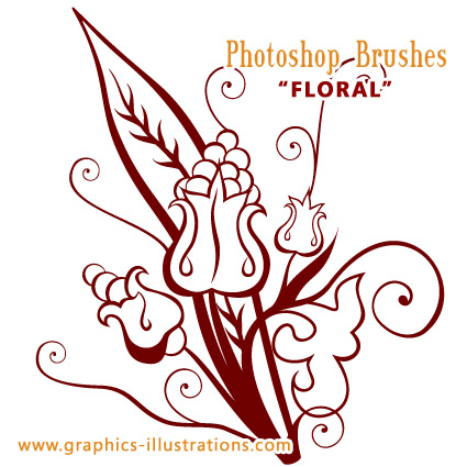 Floral Photoshop Brush