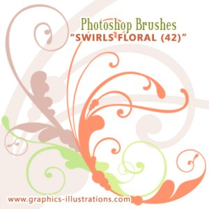 Swirls Floral Photoshop Brushes Set
