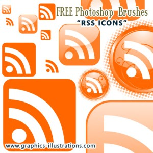 """RSS Icons"" Photoshop Brushes Set"