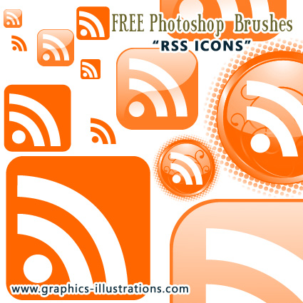 RSS Icons Photoshop Brushes Set