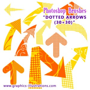 New FREE Photoshop brushes set: Dotted Arrows