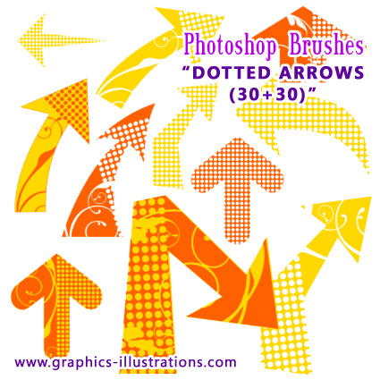 Dotted Arrows Photoshop brushes