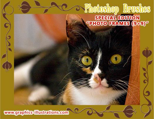 Photo Frames Photoshop Brushes set