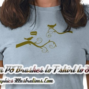 From PS Brushes to T-shirt to Sale