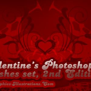 Valentines Photoshop Brushes set – 2nd Edition