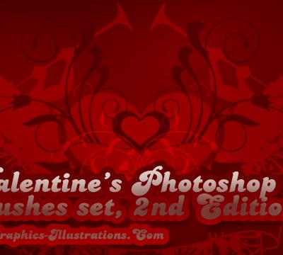 Valentines Photoshop Brushes set - 2nd Edition