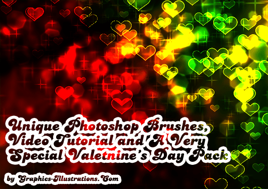 Unique Photoshop Brushes, Video Tutorial and A Very Special Valetnine's Day Pack