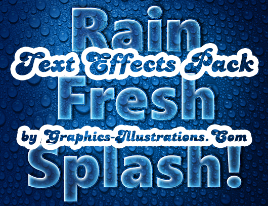 Rain Text Effects