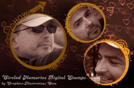 Circled Memories Photo Frames
