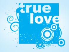 Squared Love Word Art freebie
