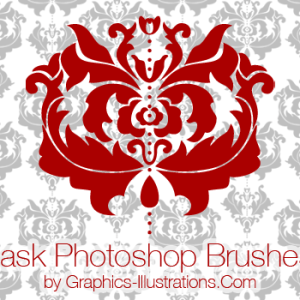 Damask Photoshop Brushes (Digital Stamps)